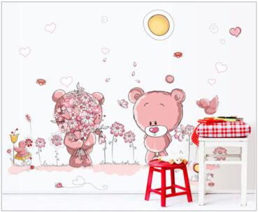 Sticker decorativ cu ursuleti