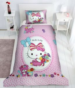 Lenjerie pat Hello Kitty